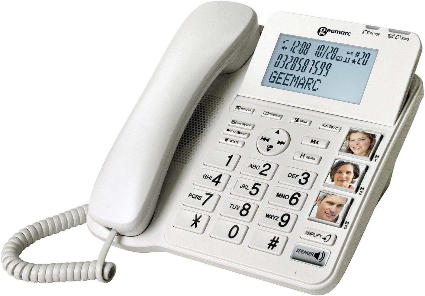 Geemarc Amplidect Combi 295 Combo Seniorentelefon Schnurgebunden Anrufbeantworter Und Zusatz Dect Telefon Deutsche Version Elektronik