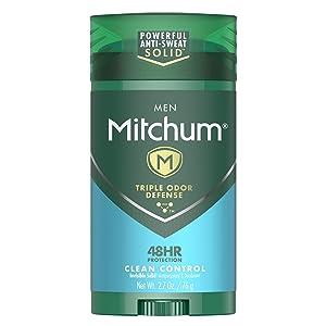 Mitchum Men Stick Solid Antiperspirant Deodorant, for Men, 2.7 Ounce