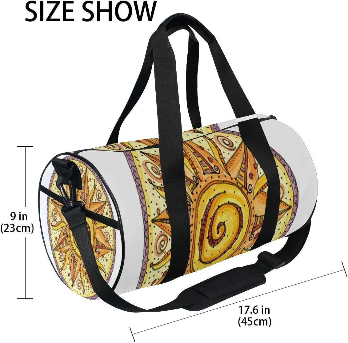 Duffel Bag Be Warm Summer Mandala Women Garment Gym Tote Bag Best Sports Bag for Boys