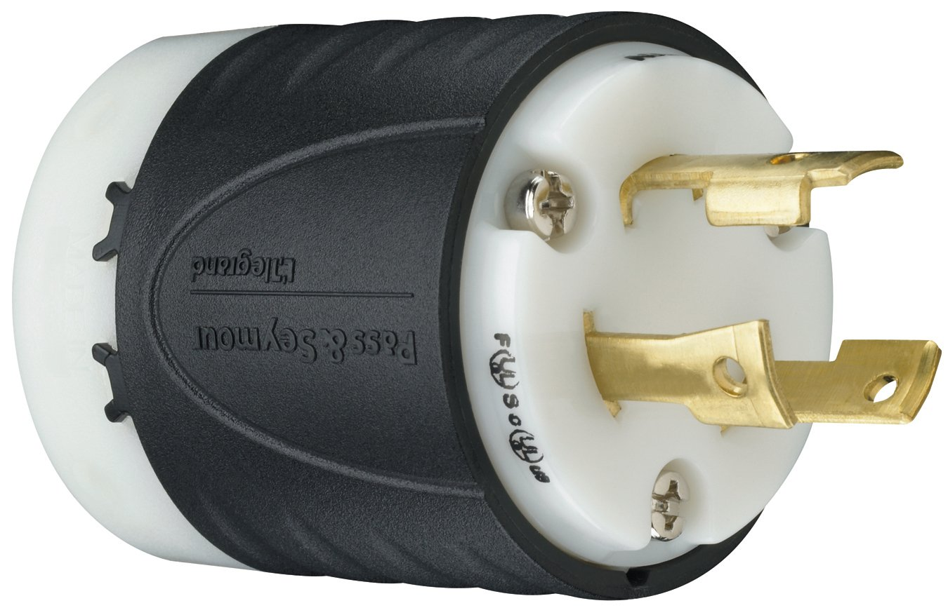 Legrand - Pass & Seymour L630PCCV3 Industrial Specification Grade Turn Lock Plug, 30-Amp 250-volt Two Pole 3 Wire