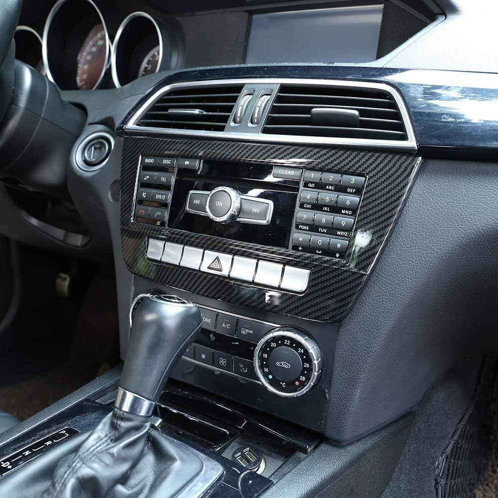 2014 Zubeh/ör DIYUCAR Carbon Fiber Style ABS Auto Mittelkonsole CD Dekoration Panel Trim Trim f/ür Benz C Class W204 C180 C200 2010