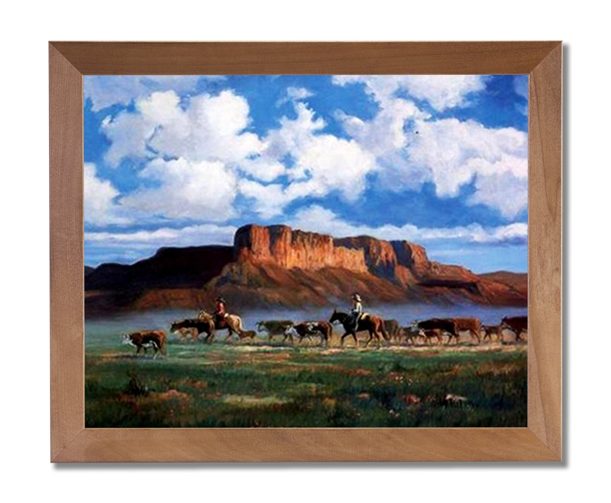 amazon com cowboys horses cattle western landscape animal wall