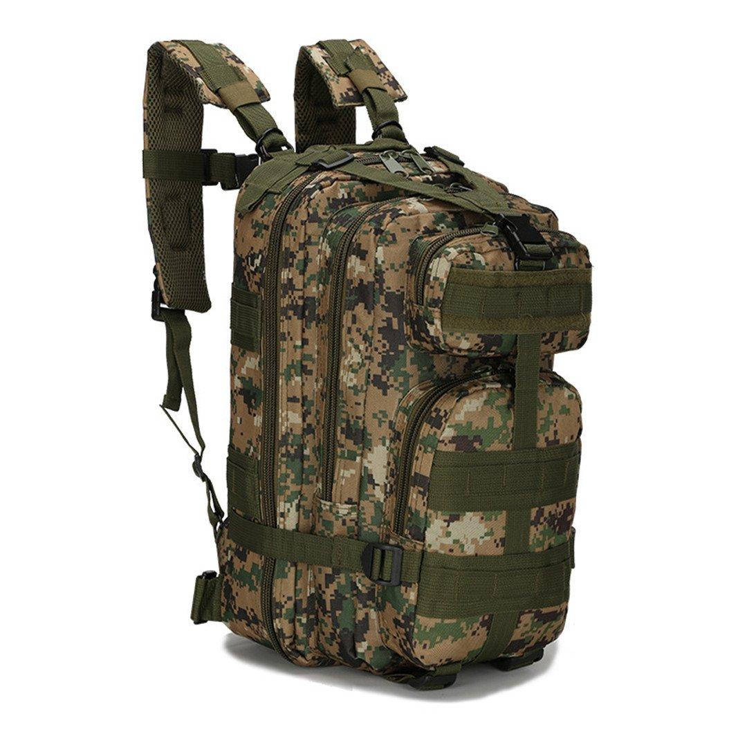 25lアウトドア登山多機能3p MOLLEバックパックバッグMilitary Army Tacticalパック600d防水オックスフォードハイキング迷彩 30 - 40L 7C B07B49PJNJ