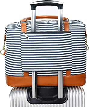 Medcine Travel Carry-on Luggage Weekender Bag Overnight Tote Flight Duffel In Trolley Handle