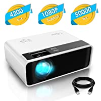 Mini Projector, CiBest Video Projector Outdoor Movie Projector, 4200 lux LED Portable...