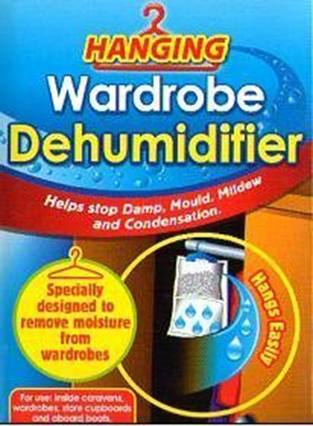 Helps Stop Damp 3x3 X Interior Hanging Wardrobe Dehumidifier By AirWise