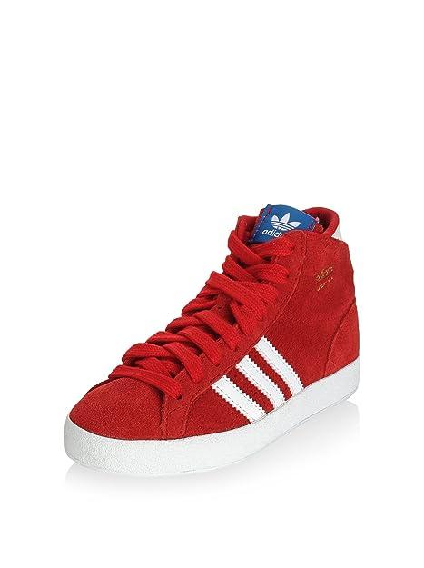 online store b05de 8aaa2 adidas Zapatillas Abotinadas Basket Profi K Rojo Blanco EU 31  Amazon.es   Zapatos y complementos