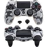 Pandaren® Ultra Armatura Ingranaggi FPS copertura caso per il controller PS4 (grigio mimetico)