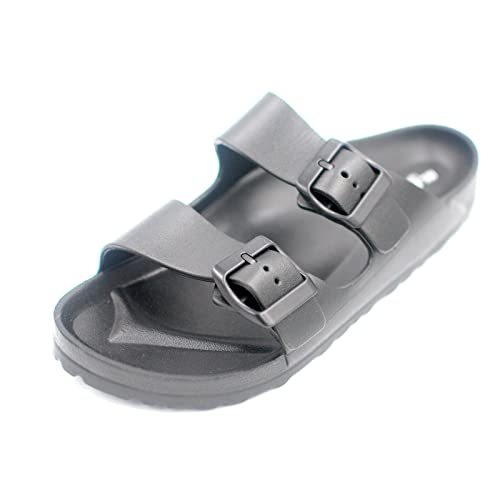 Elega Sport Men Women Unisex Black Casual Light Weight Slide Footbed Sandal  Men 10 Women 11 e39fd15cdd