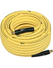 "WYNNsky Hybrid Air Hose 3/8 in X 100ft, 1/4""MNPT Fittings, 300 PSI Max Working Pressure,Non-Kinking, Lightweight, Flexible in Extreme Cold Weather, Excellent UV, Oil and Abrasion Resistant"