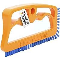 FUGINATOR® Fogborste orange/blå – borste för rengöring i badrum, kök och hushåll med EU-patent
