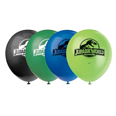 "12"" Latex Jurassic World Balloons, 8ct: Kitchen & Dining"