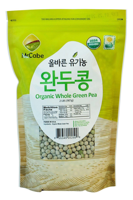 McCabe Organic Whole Green Pea, 2-Pound