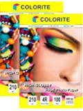 """Colorite Inkjet High Glossy Photo Paper 210 Gsm 4R (4""""x6"""") /100 Sheets x 2 PACKS COMBO (200 sheets)"""