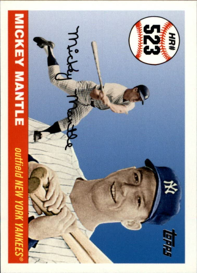2006 Topps Mantle Home Run History #523 Mickey Mantle MLB Baseball Trading Card