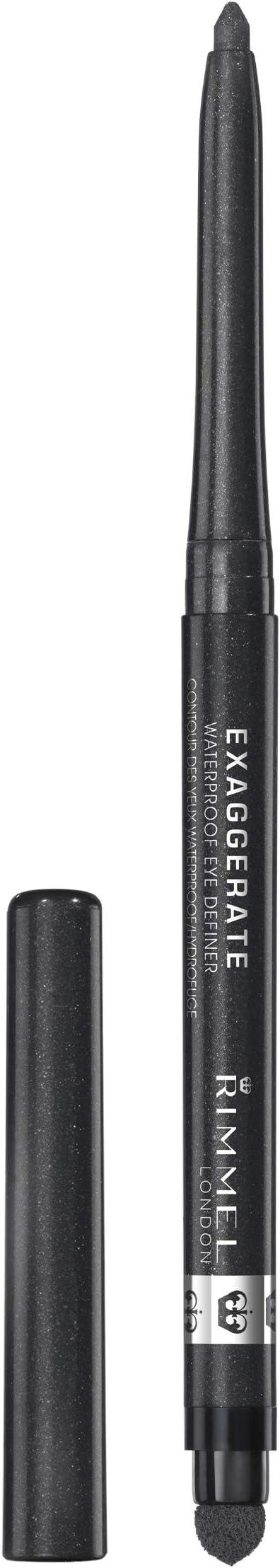 Oferta amazon: Rimmel London Exaggerate Automatic Eyeliner Waterproof - Delineador de Ojos Retráctil, Tono 263- Negro (Starlit Black), 0.28 gr