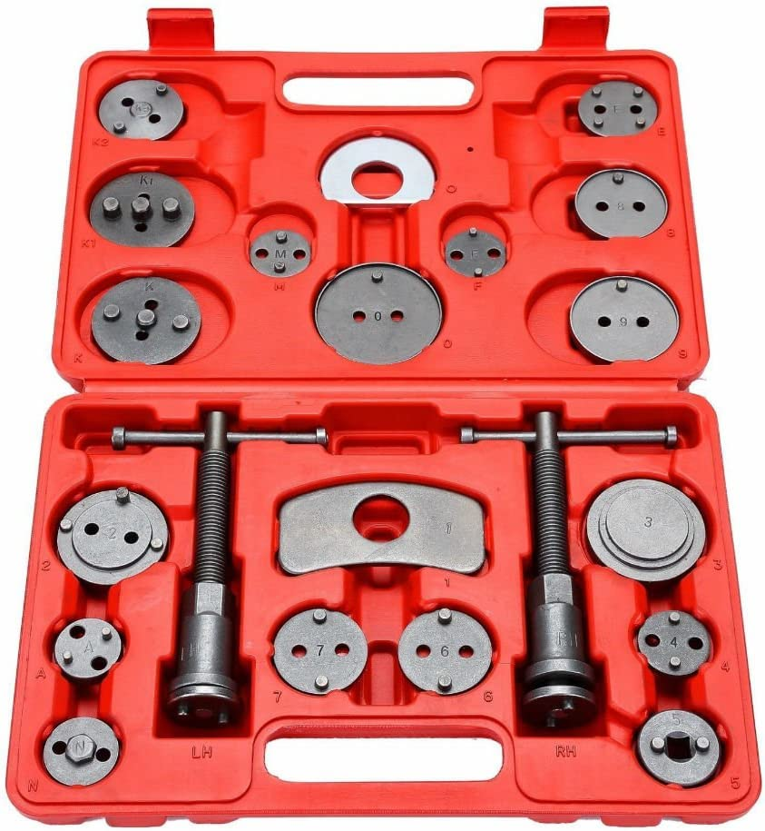 21 pcs Universal Disc Brake Tools Caliper Piston Pad Car Auto Wind Back Hand Kit