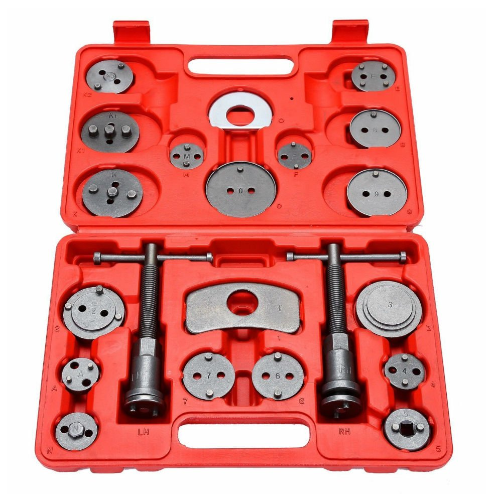 21PC Universal Disc Brake Caliper Piston Pad Car Auto Wind Back Hand Tool Kit