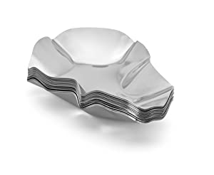 Outset 76471 Grillable Oyster Shells, Set of 12 Stainless Steel