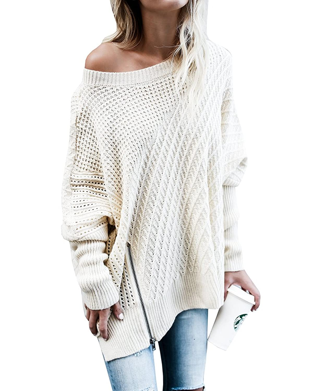 22d70c804 Top 10 wholesale Oversized Off The Shoulder Knit Sweater ...