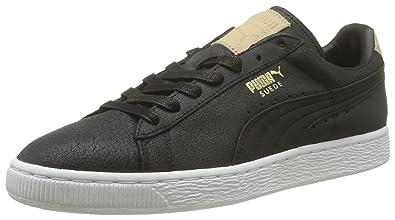 ef859ea9c83c Puma Men s Suede Classic Citi Series Black Leather Boat Shoes - 6 UK India (