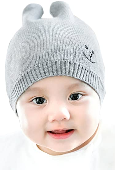 GZMM Unisex Newborn Baby Warm Fashion Soft Knit Hat Beanie Cap 0-3 Months ( 8942ebd08fd