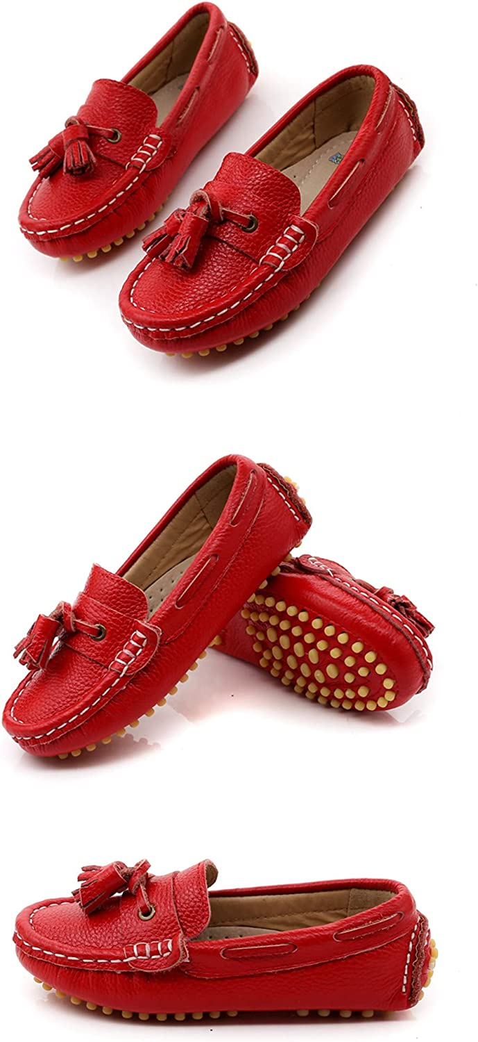 Children Loafers Boys Girls Genuine Leather Shoes Toddler Flats Breathable Shoes