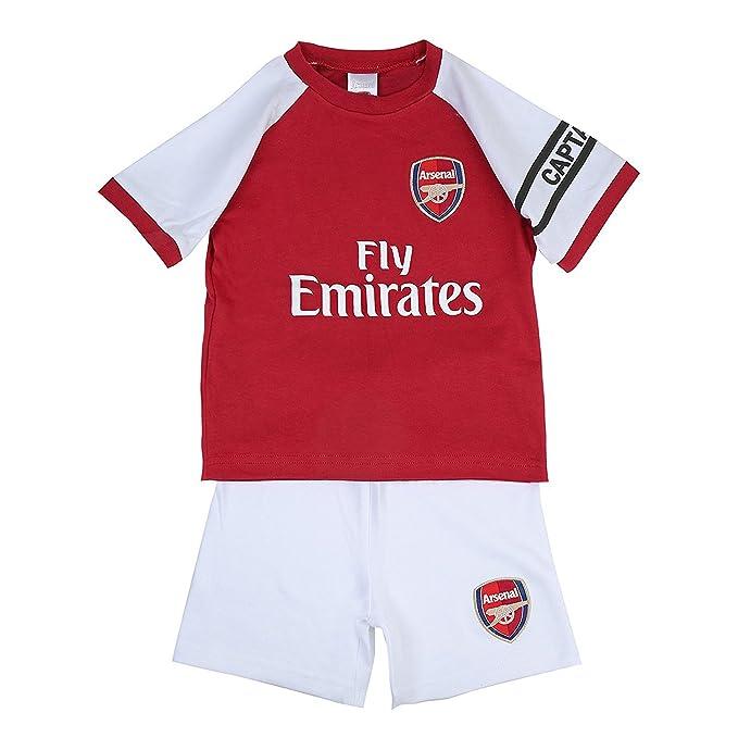 Arsenal FC Conjunto Oficial de Pantalón Corto y Camiseta - Para Bebés - Colores Primera Equipación - Rojo y Blanco - 3-6 Meses: Amazon.es: Ropa y accesorios