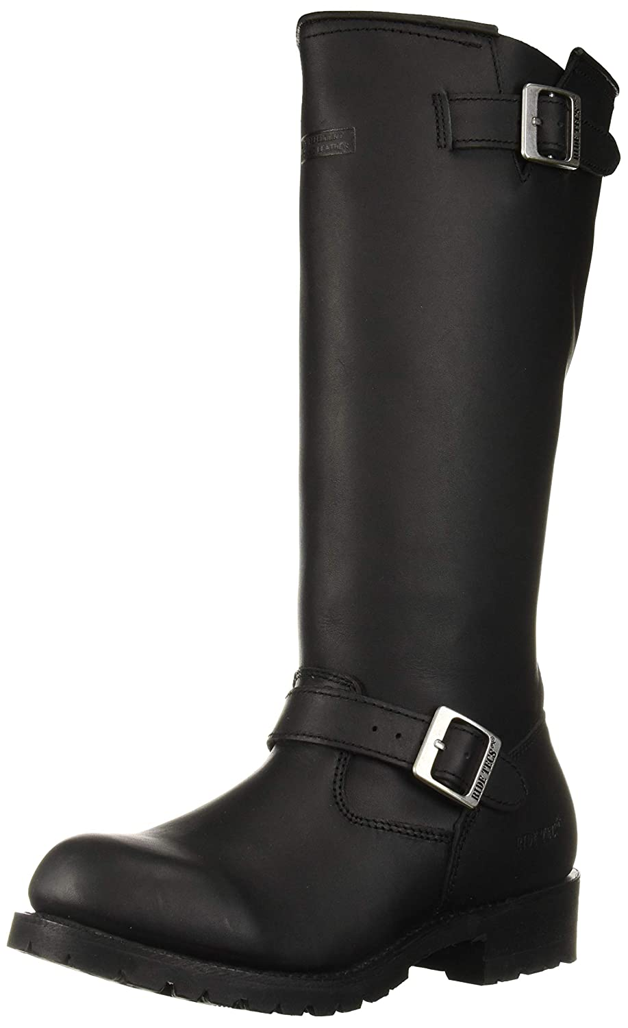 Steampunk Boots & Shoes, Heels & Flats RIDETECS Mens 16 Engineer Zipper Biker Boot Black $146.95 AT vintagedancer.com