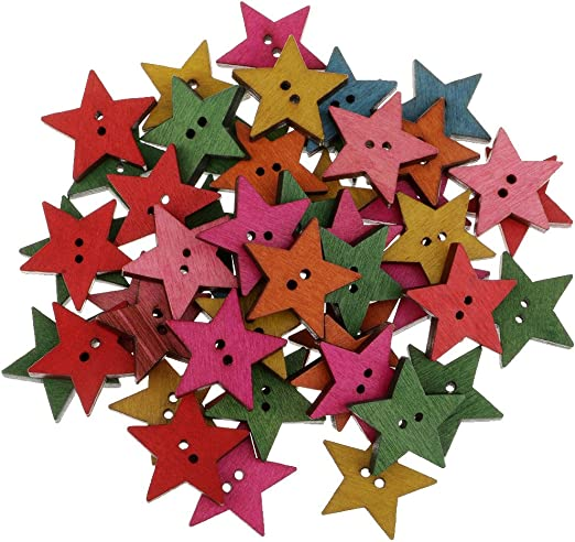 Wooden MINI STAR embellishments for cardmaking scrapbooking art craft projects