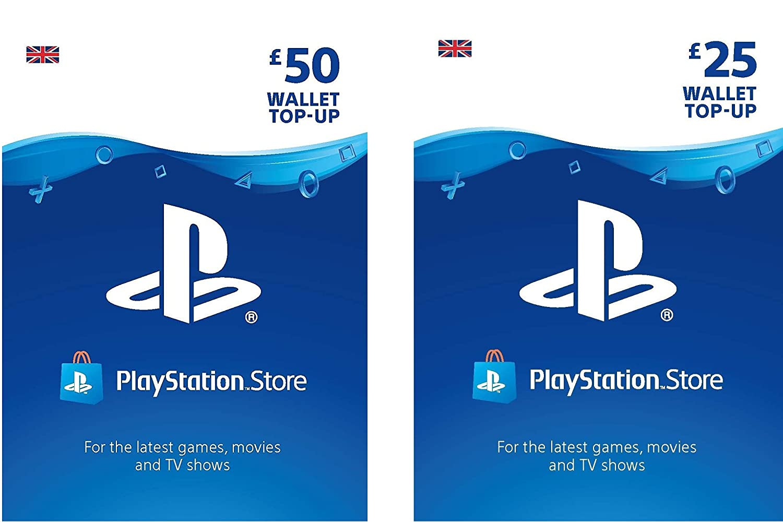 PlayStation PSN Card 75 GBP Wallet Top Up   PSN Download