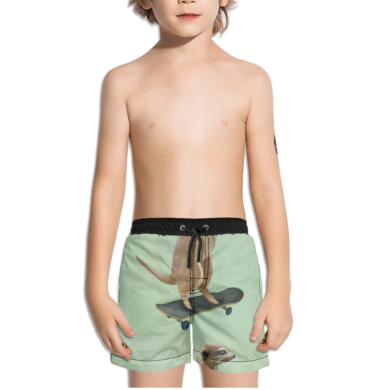 Ouxioaz Boys Swim Trunk Animal Skateboarding Beach Board Shorts