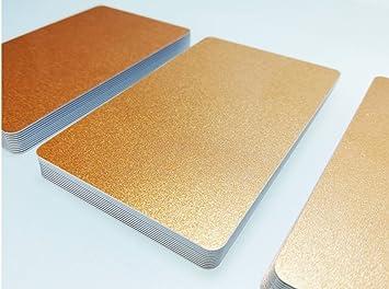 blanko PVC Karten Orange NEU! Premium Plastikkarten 500 Kartendrucker 5-500 St/ück