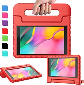 AVAWO for Samsung Tab A 8.0 2019 Kids Case (T290/T295), Light Weight Shock Proof Convertible Handle Stand Kids Friendly Case for Samsung Tab A 8-inch Release in 2019, Red