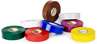 "product image for 3M Scotch Vinyl Color Coding Electrical Tape 35, 1/2"" x 20', Multi-Color"