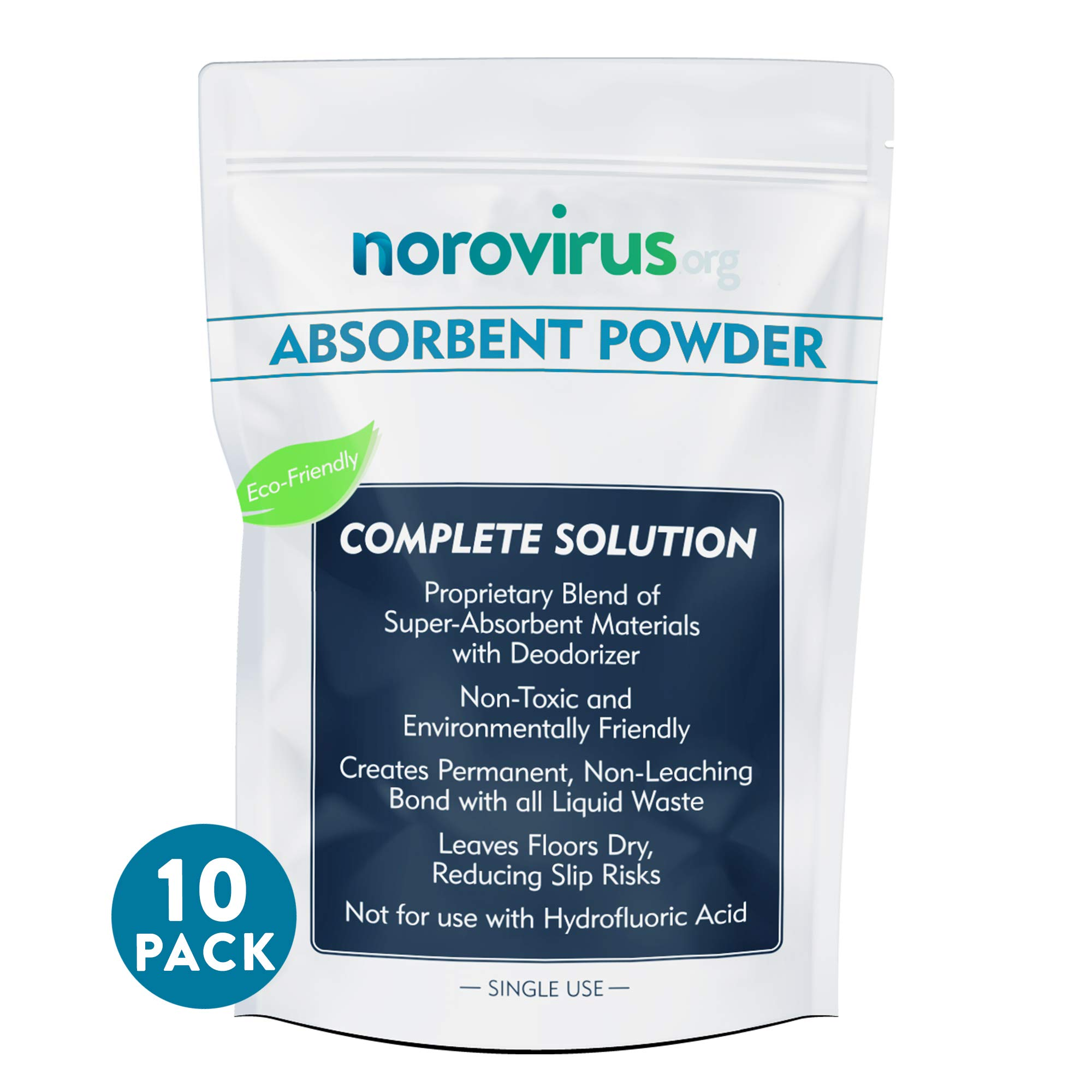 Vomit Absorbent Powder | Universal Solidifier for Bodily Fluids & Liquid Spills | Quick-Acting & Odor-Neutralizing (10 Pack)