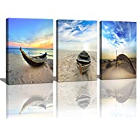Baisuart Cao Gen Decor Art- 3 panels Framed Wall Art Abstract Print Painting on Canvas