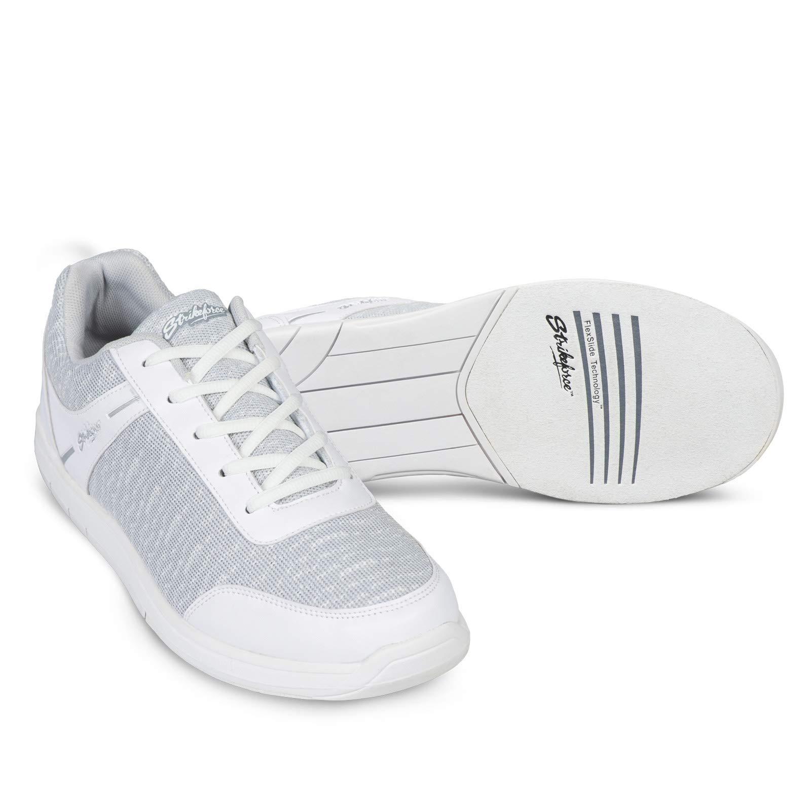 KR Strikeforce Mens Flyer Mesh Bowling Shoes- White/Grey 10