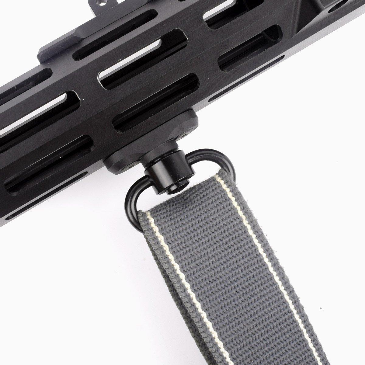 CRUSHUNT M-lok QD Sling Mount Sling Swivel 1.25 inch Adapter Attachment M lok Hand-Guard Set by CRUSHUNT (Image #5)