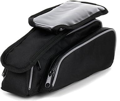 Muddyfox Unisex Saddle Bag 100 Waterproof Zip Black One Size