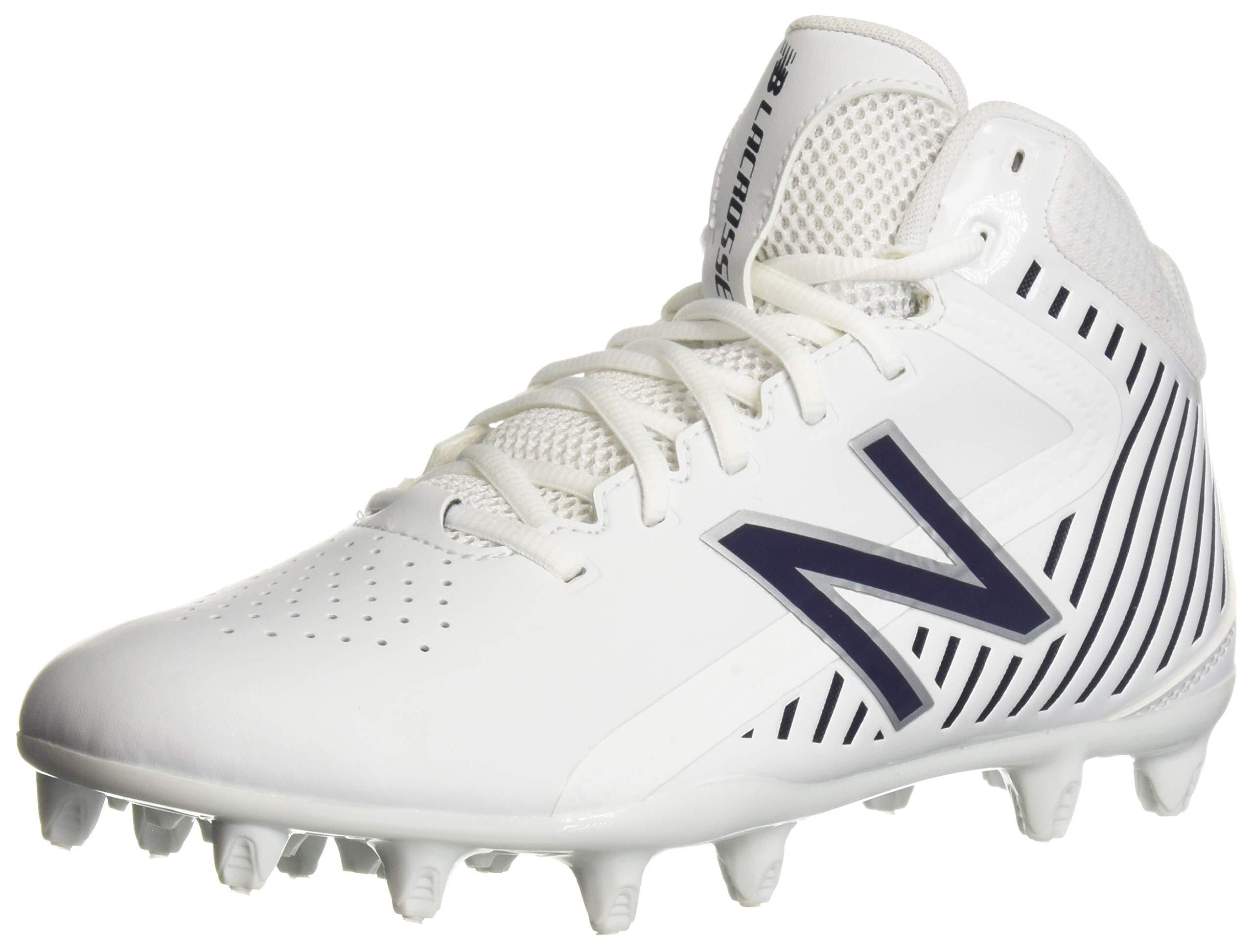 New Balance Men's Rush v1 Lacrosse Speed Shoe, White/Blue, 9 D US
