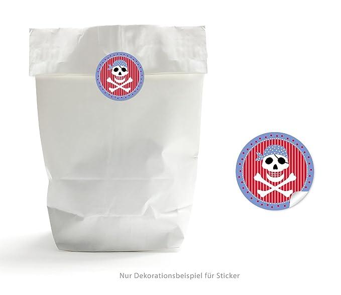 Bolsas de regalo Set: 24 bolsas de papel pirata Rojo (bolsas ...