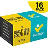 Care Check Marijuana THC Single Panel Drug Screen Test, Individually Wrapped 16 Home Drug Test Kits