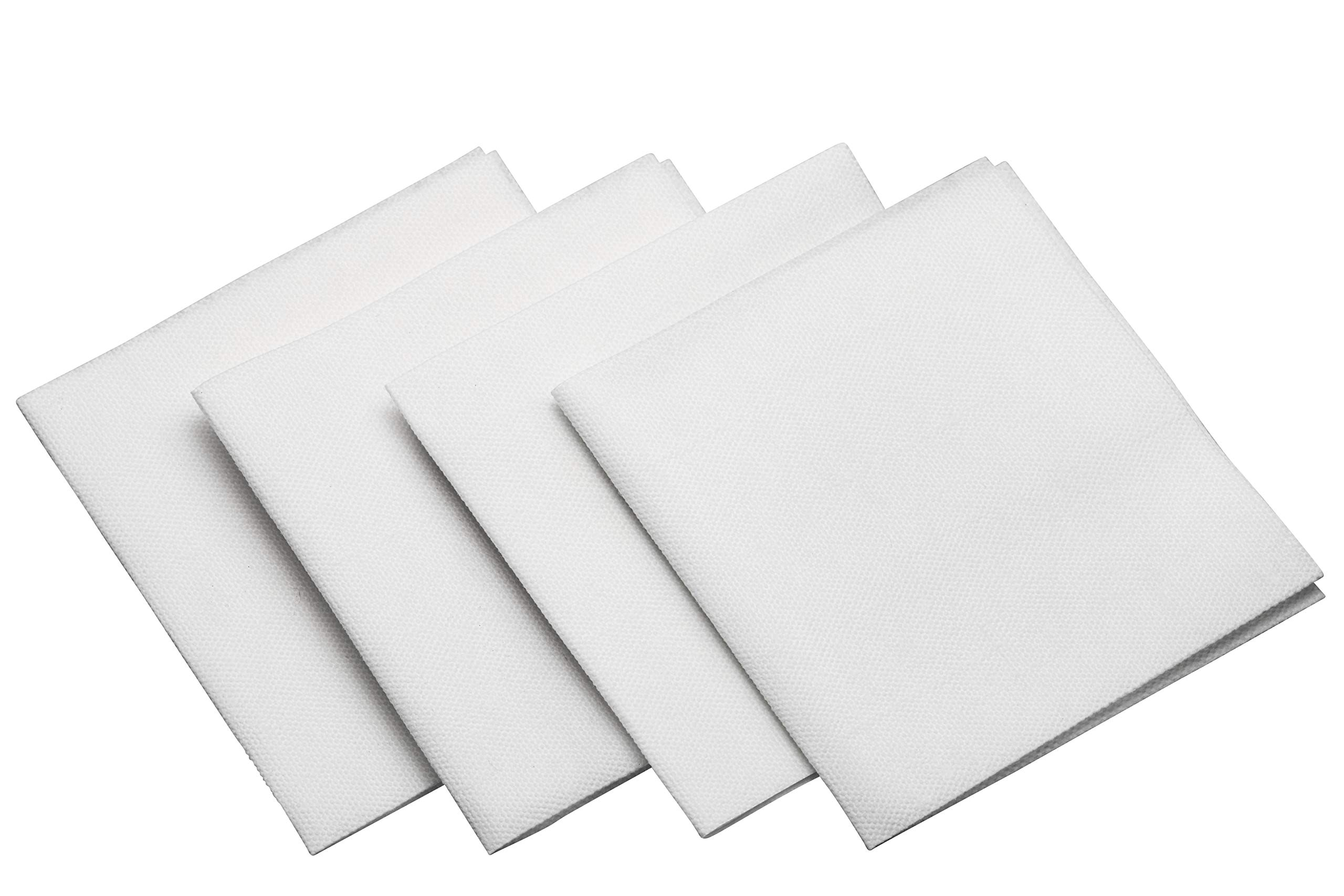 DIPLASTIBLE Luxury Linen-Like Cocktail Beverage Napkins 10-Pack (1,800 Total) | Natural White Disposable Napkins 4x4 Inch | Absorbent & Soft | Top Quality Wedding Dinner Party Supplies by Diplastible