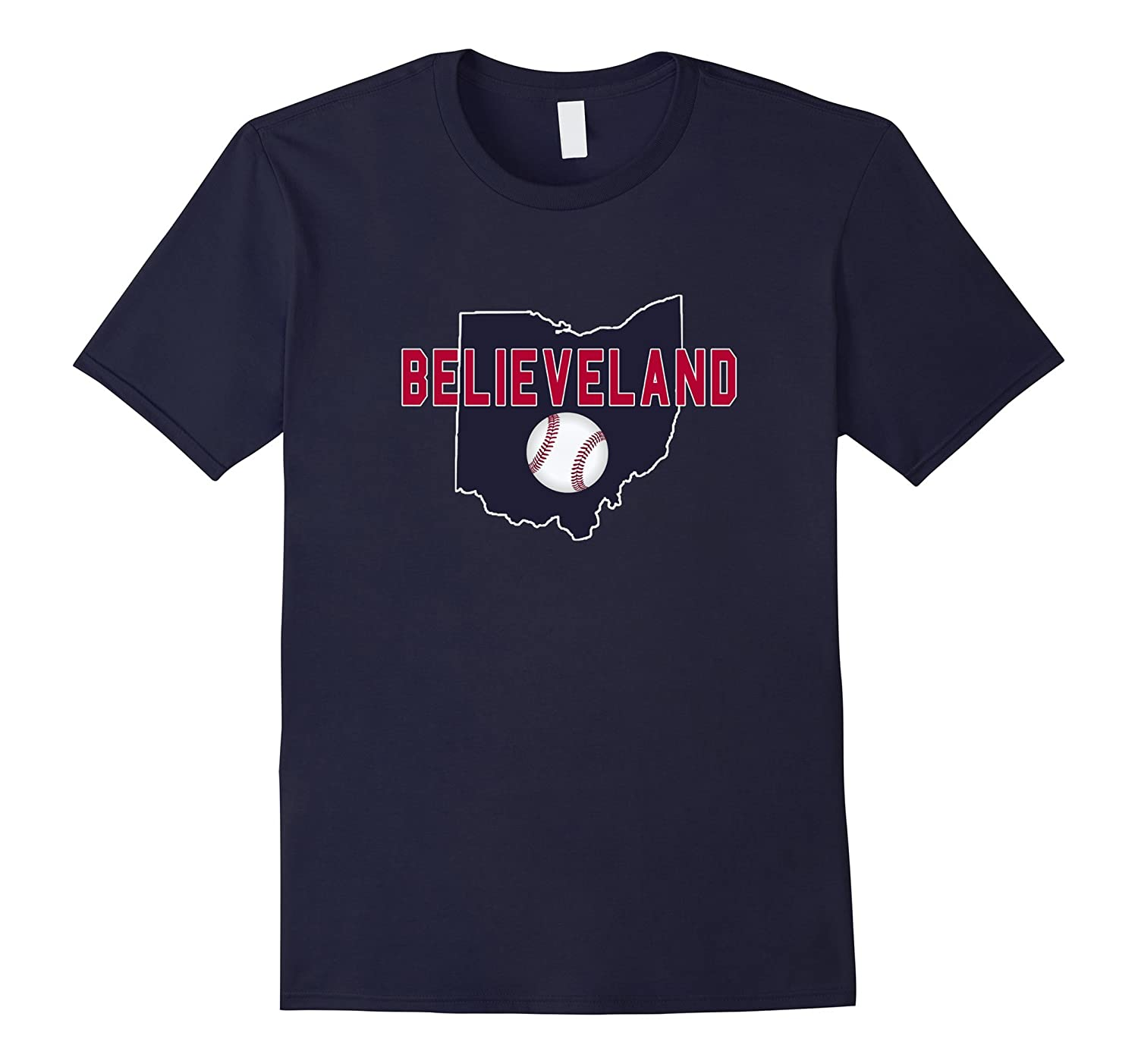 Believe Land Cleveland Baseball Player Bat T-Shirt-BN