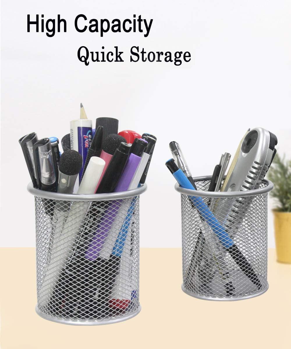 Qualsen 8 Pack pot a crayon organiseur pot a stylo Rangement Organisateur conteneur pour bureau