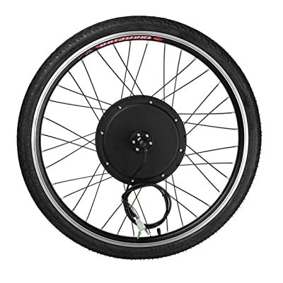 """1000W eléctrico E Kit de conversión de la bici de 26"""" Sensor de velocidad del kit de la manivela de la herramienta de la rueda delantera del motor Eje de la bicicleta 48V aleación de aluminio: Juguetes y juegos"""