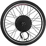 """1000W eléctrico E Kit de conversión de la bici de 26"""" Sensor de velocidad del kit de la manivela de la herramienta de la rueda delantera del motor Eje de la bicicleta 48V aleación de aluminio"""