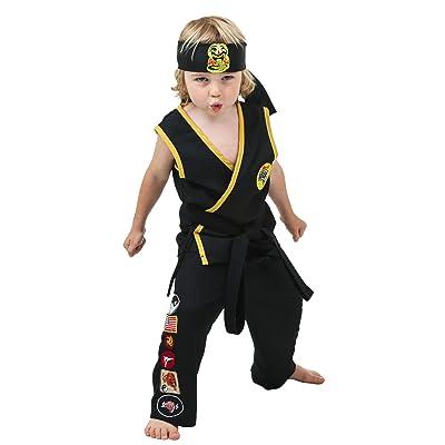 Toddler Cobra Kai Costume 2T Black: Clothing