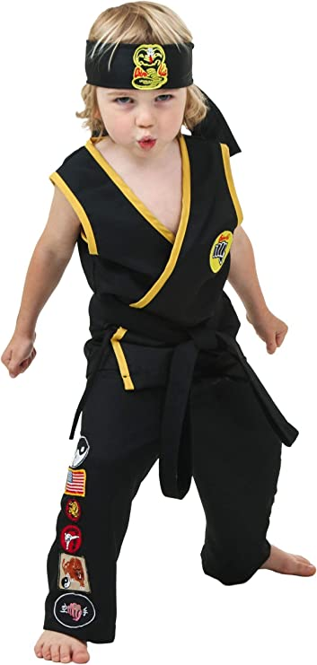Karate Gi and headband costume for baby or toddler 0-3 mths or any size to 18mth same price
